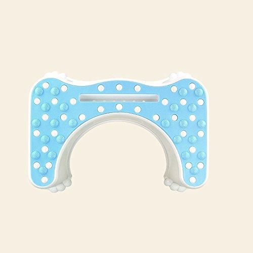 Aufgefüllter Plastiktoilettenhocker / rutschfeste Badezimmertoiletten-Schemel / Kind schwangere Frauen-Toilette erhöhen Schemel-Grubenfußbank ( Farbe : A )