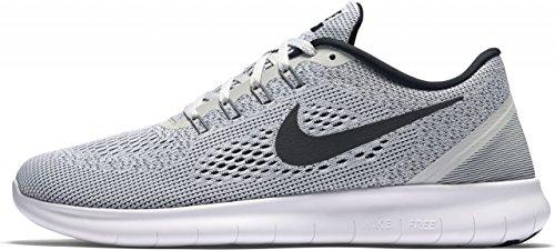 Nike Free RN, Chaussures de Running Entrainement Homme Blanc Cassé - Blanco (White / Black-Pure Platinum)