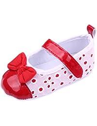 V-SOL Infantil Sandalias Zapatos Zapatillas Bailarinas Tela Para Bebé Niña Suaves Primeros Pasos Con Velcro -5
