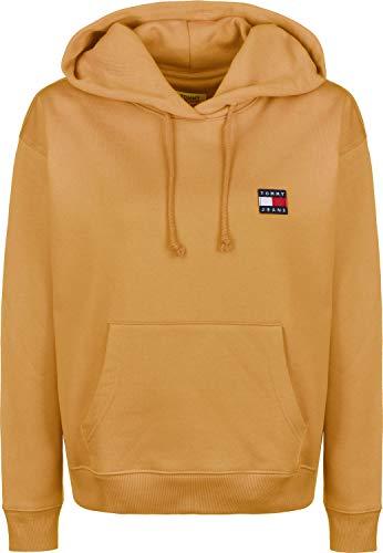 Tommy Jeans Damen Sweatshirt mit Kapuze Tommy Badge Hoodie gelb (31) S