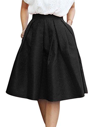 Allegra-K-Womens-Floral-Jacquard-Midi-Full-Skirt