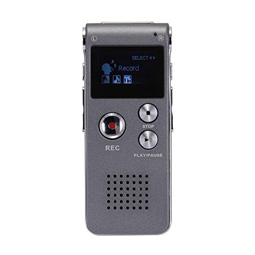 Produktabbildung von GHB 16GB Digital Diktiergerät Voice Recorder LCD-Bildschirm silber