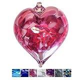 Glass Heart Baubles