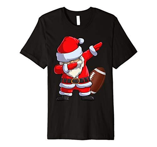 Dabbing Santa American Football T-shirt, Christmas Gifts