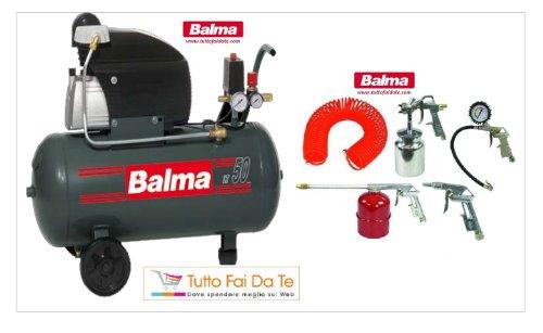 compressore balma con serbatoio da lt.50 + kit accessori