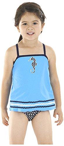 Zoggs Girl 's Seepferdchen Schwangerschaftsbadeanzug Badeanzug, Mädchen, Seahorse Swimdress, (Seepferdchen Kostüm Kind)