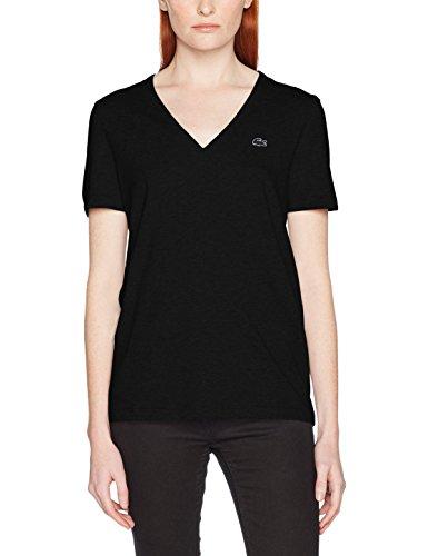 Lacoste Damen Fit Slim T-Shirt Tf8908, Schwarz (Noir), 34 (Herstellergröße: 34)