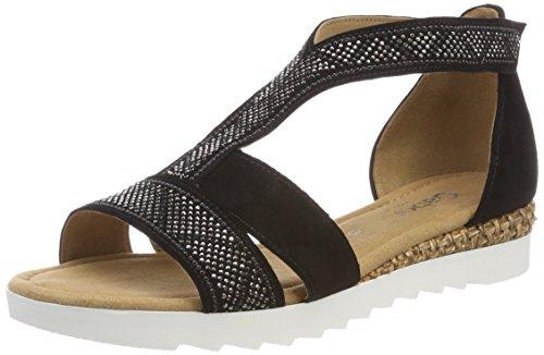 Gabor Shoes Damen Comfort Sport Riemchensandalen, Schwarz (Schw Grata/Motiv), 41 EU