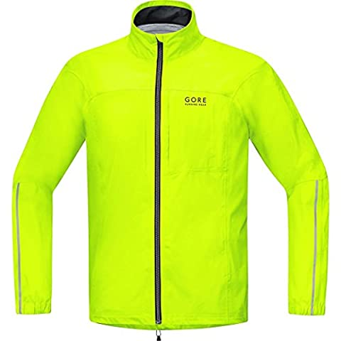 GORE RUNNING WEAR Herren Laufjacke, GORE-TEX Active, ESSENTIAL GT AS Jacket, Größe XL, Neongelb, JGMESS