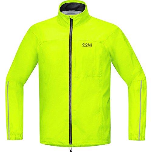 GORE RUNNING WEAR Herren Laufjacke, GORE-TEX Active, ESSENTIAL GT AS Jacket, Größe L, Neongelb, JGMESS