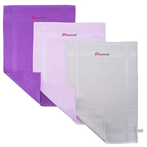 mysimaa® Dezent Premium Putztücher Profi Microfaser Allzweck-Reinigungstücher ohne Putzmittel für Streifenfreien Glanz im Haushalt, Auto, Büro sowie für Fenster Spiegel Glas UVM.