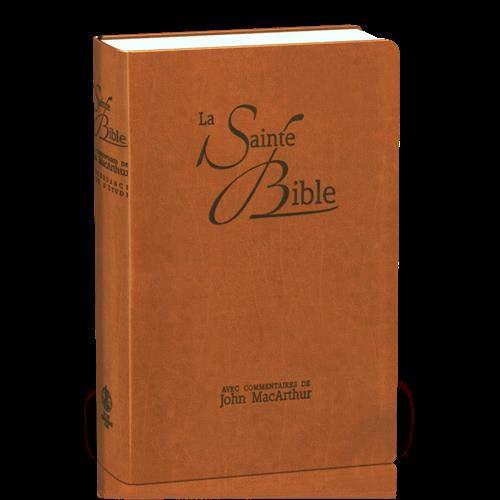 Bible Neg Macarthur : souple similicuir brun