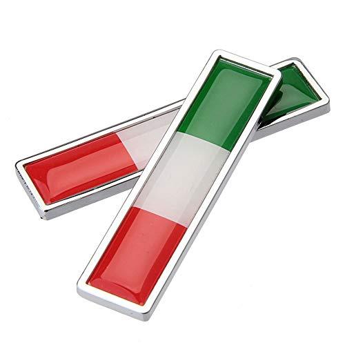 1 para Land Nationalflagge Italien Hot Metal Aufkleber Auto Styling Motorrad Zubehör Abzeichen Label Emblem Auto Aufkleber