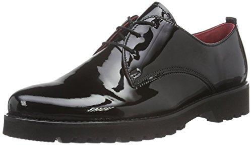 Gabor Shoes 52.545 Damen Derby Schnürhalbschuhe, Schwarz (Schw(Fu Rot/S.S/S) 87), 37 EU (4 Damen UK)