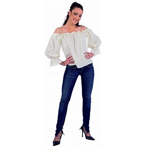 Limit Sport Mascarada NC030 L - Mittelalter-/Piraten-Bluse Kostüm, Größe L, weiß
