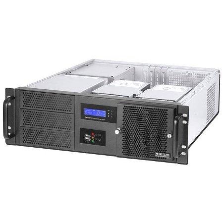 Realpower RPS19-G3380 48,3 cm (19 Zoll) Server-Gehäuse ohne Netzteil (ATX, LCD-Display, 2x 5,25 externe, 3x 3,5 interne, 2x USB 3.0) schwarz