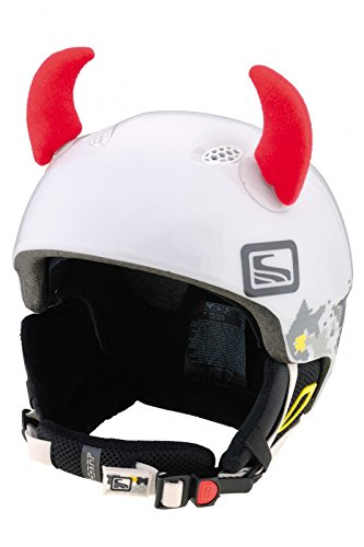 Crazy Ears Helm-Accessoires Hörner Teufel Rot Ohren Ski Snowboard Motorrad Fahrrad, CrazyEars:Rote Hörner Klein (6cm)