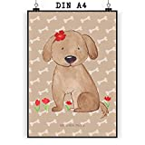 Mr. & Mrs. Panda Poster Din A4 Hund Hundedame - Hund, Hunde, Haustiere, Hunderasse, Tierliebhaber Poster, Wandposter, Bild, Wanddeko, Geschenk