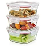 [Sponsored]Femora Airtight Break Resistant Borosilicate Square Kitchen Food Storage Container With Lid, Microwave Safe- Set Of 3 (300, 450, 665 Ml)