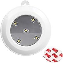 Xcellent Global 5 Luz de noche LED táctil - simplemente pulse la Luz para encender y apagar - Péguelo en cualquier lugar con la cinta adhesiva de doble cara 3M LD044 ((funciona a pilas)