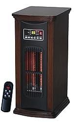 Comfort Glow QTH7100 21-Inch Infrared Quartz Tower, 1500-watt, Walnut