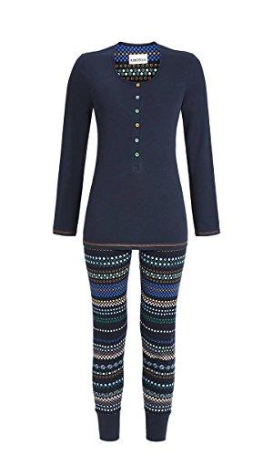 Ringella Damen Pyjama 7511215P Nachtblau