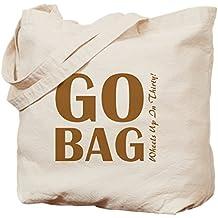 CafePress–Go-Bag–Gamuza de bolsa de lona bolsa, bolsa de la compra, lona, caqui, Medium