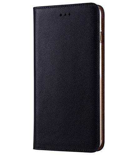 Apple Iphone 7 Melkco Cuir de vachette Premium Herman Series Housse de style livre avec cuir de qualité supérieure Fabriqué à la main Bonne protection, Premium Feel-Orange Brown Blue