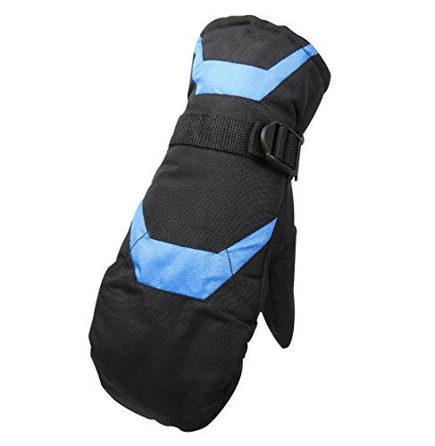 Guanti da sci per adulto, barrageon manopola da sci impermeabile antivento guanti termici per uomo donna invernali all'aperto sport guanti caldo per sci snowboard motoslitta blu