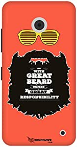 The Racoon Lean Respect thy Beard hard plastic printed back case / cover for Nokia Lumia 630