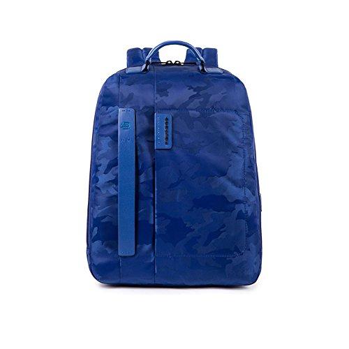 Zaino Grande Porta Pc 15″ e Porta iPad® dotata di dispositivo CONNEQU | Piquadro Pulse Connequ | CA3349P16-Camo/Blu