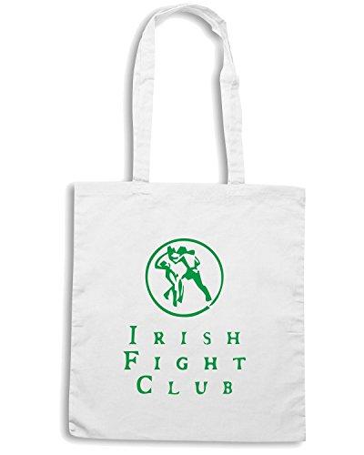 T-Shirtshock - Borsa Shopping TIR0095 irish fight club white tshirt Bianco