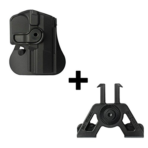 IMI Defense Tactical retention rotating 360 roto paddle polymer Holster + Molle adapter attachment for Walther P99 P99 AS P99C AS pistol handgun -