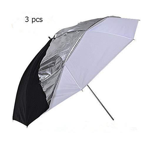 33-Zoll-Doppelschirm Abnehmbarer 2-in-1-Fotografie-Regenschirm Professioneller Studioblitz Durchscheinender weißer Regenschirm Geeignet für alle Studioblitze ( Farbe : As shown , Größe : Free )