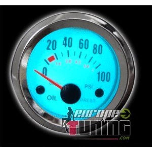 Carparts Online 11361 Öldruck Anzeige Zusatz Instrument 52mm Plasma Blau Gewerbe Industrie Wissenschaft