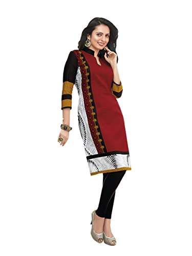 Unstitched Cotton Printed Kurti Fabric | Free Delivery