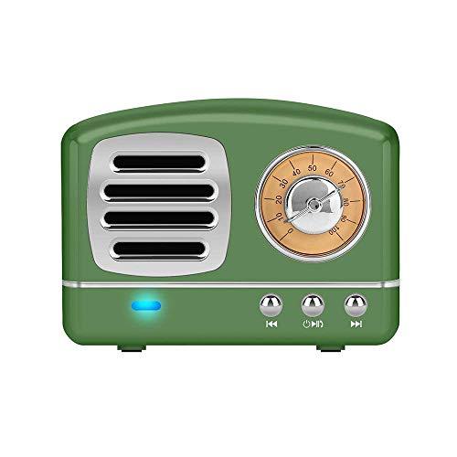 Portable bluetooth altoparlante stereo, migliorata bass retro altoparlante wireless vintage con tf card slot, microfono integrato per all' aperto dispositivi android/ios