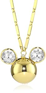 Disney Couture 14 K Gold Plated Minnie Mouse Head Locket With Swarovski Crystal Ears