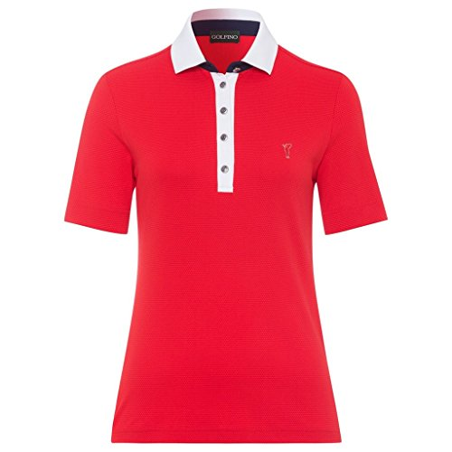 Golfino Bubble Jacquard Short Sleeve Polo Red Flame 34