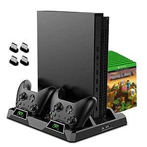 OIVO Kühlständer für Xbox One/S/X, 2 Lüfter, Dual Controller Ladestation mit LED-Indikatoren und 15 Spiel-Slots für Xbox…