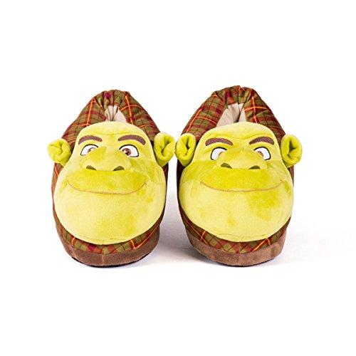 Sleeper'z Chaussons peluche Shrek - Shrek - Homme Femme - Original Confortable Chaud Antidérapant - Officiel DreamWorks - Pointure 39-41 (L)