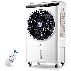 Refroidisseur d'air avec télécommande et affichage à LED, Climatiseur mobile industriel avec climatiseur à condensation par eau, 105 W
