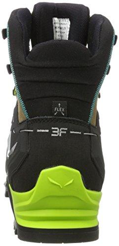 Salewa Damen Mtn Trainer Mid Gore-Tex Bergschuh, Chaussures de Trekking et Randonnée Femme Multicolore (Walnut/swing Green)