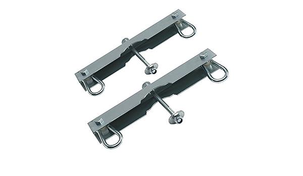 HOQ Set di 4 ganci per altalena per legno rotondo 12 cm//120 mm 2 pezzi
