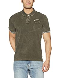 Flying Machine Men's Solid Slim Fit Cotton Polo