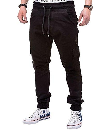 BetterStylz Herren Cargo Chino Jogger Jogginghose MasonBZ Slim Fit mit Seitentaschen