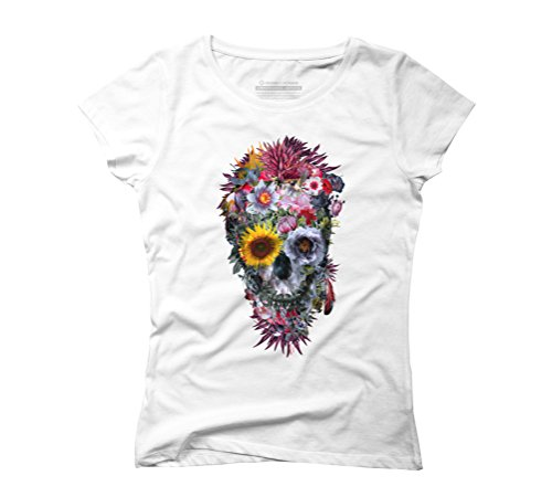 Voodoo Skull Women's Graphic T-Shirt - Design By Humans White
