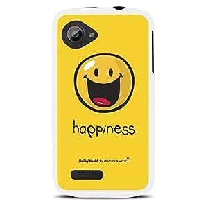 MOXIE Coque motif Smiley Happiness rubber blanc pour Wiko Cink Slim