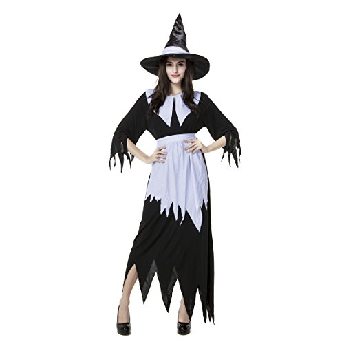 Witch Ladies Fancy Dress Outfit Magic Spell Costume ()
