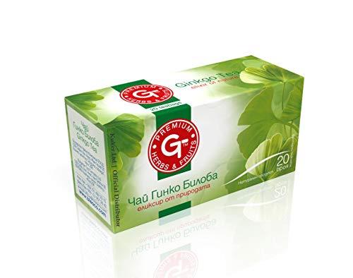 (4 Pack) Ginkgo Biloba Tee 20 Beutel | BteaCo for Kuker | Ginkgo Kräuter Tee | Memory Strength 30g